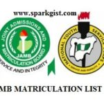 JAMB Matriculation List- Check Your Name on JAMB Matriculation List for NYSC Mobilization